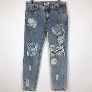 One Teaspoon Awesome Baggies Jeans Distressed